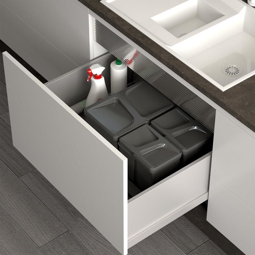 kuchenny pojemnik na śmieci do segregacji odpadów